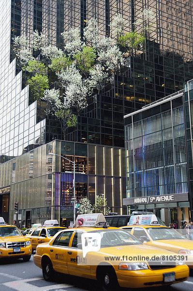 Vereinigte Staaten von Amerika  USA  passen  New York City  Taxi  Allee  Midtown Manhattan