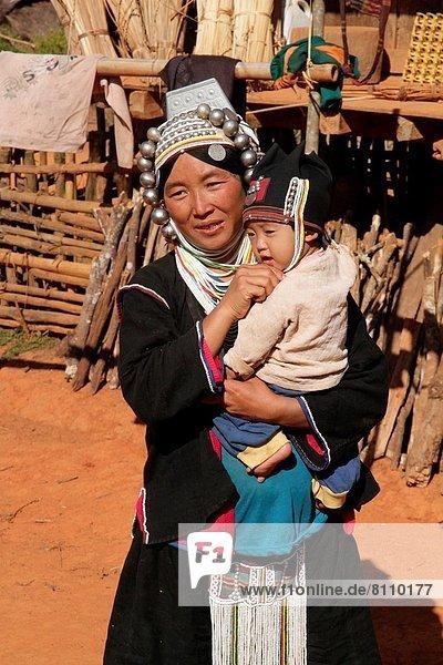 nahe  Frau  Dorf  Myanmar  Locke