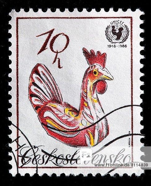 Briefmarke  Hahn