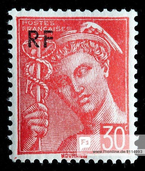 Frankreich  Quecksilber  Briefmarke
