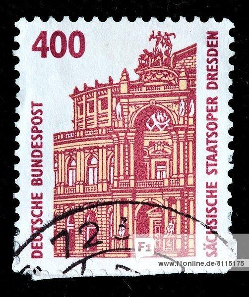 Opernhaus Oper Opern Dresden Deutschland Briefmarke