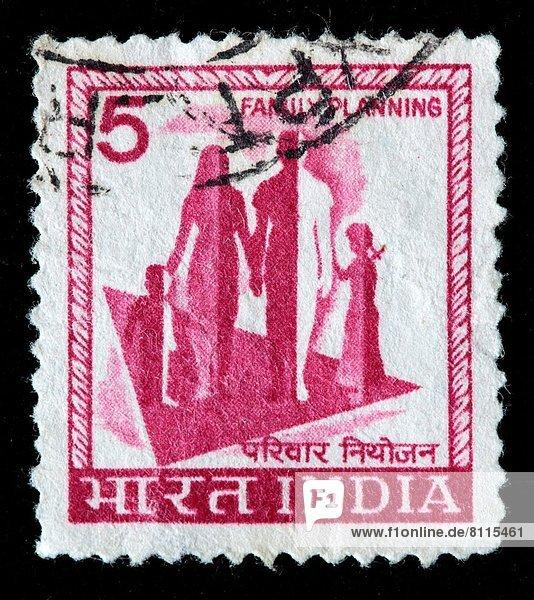Familienplanung  Indien  Briefmarke