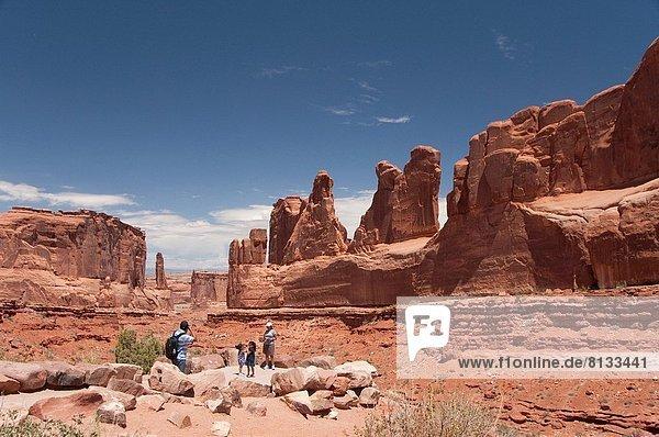 Vereinigte Staaten von Amerika  USA  Arches Nationalpark  Park Avenue  Utah
