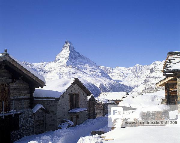 Findeln  hinten das Matterhorn