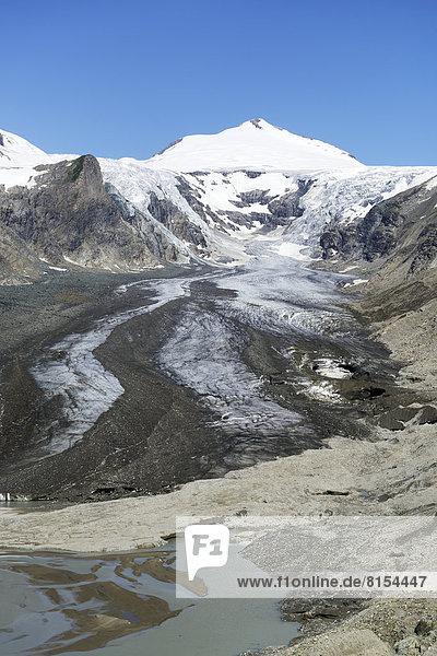Gletschersee vom Pasterze-Gletscher  hinten der Johannisberg