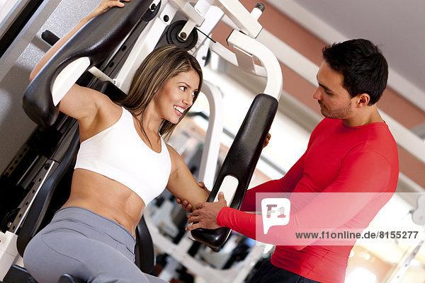 Fitness-Studio , Frau , arbeiten , Hispanier