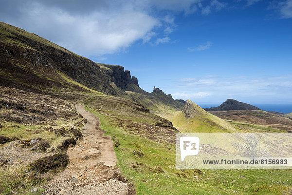 Vereinigtes Königreich  Schottland  Blick auf den Wanderweg