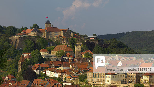 Deutschland,  Bayern,  Kronach,  Blick auf die Festung Rosenberg