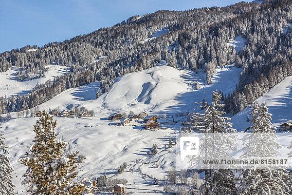 Italien  Dolomiten  Blick auf Alta Badia in La Villa