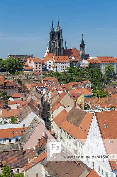 Germany  Saxony  View of Meissen old town