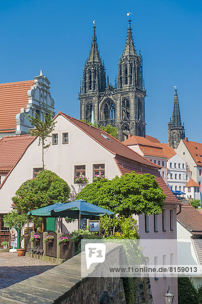 Germany  Saxony  View of Meissen old city