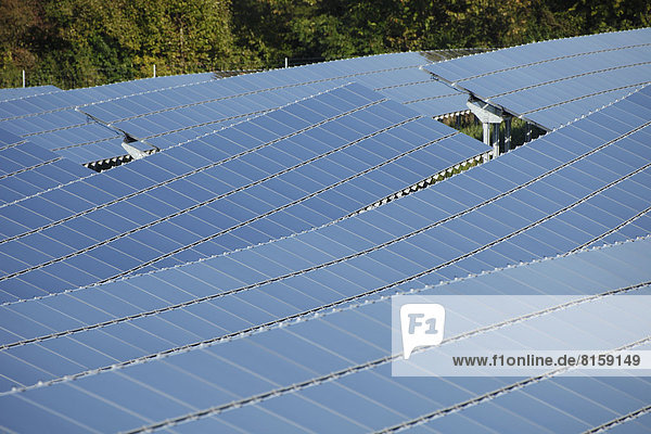 Germany  Bavaria  Solar panels  close up