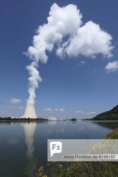 Germany  Bavaria  Landshut  View of nuclear power plant