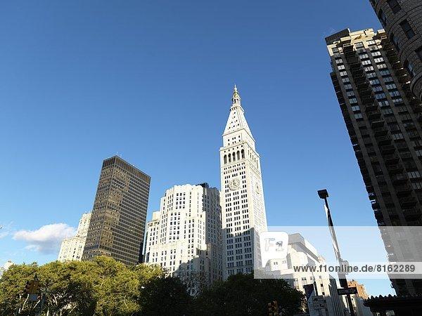 View of skyscraper in New York City