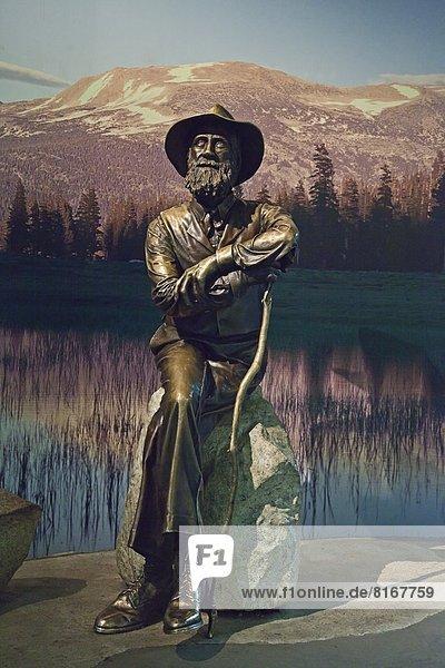 Sculpture of man in Yosemite National Park