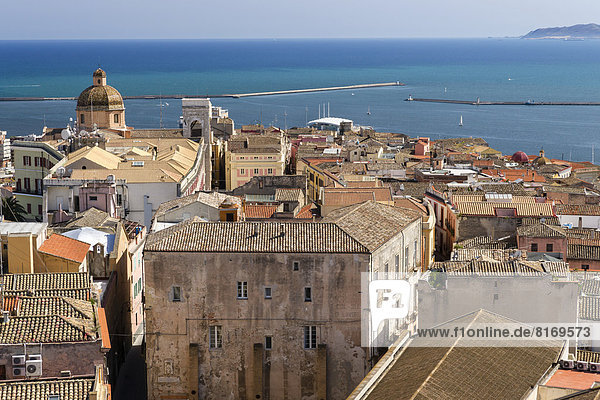 Castello  historical town centre with the Cathedral of Santa Maria di Castello  the harbour at back