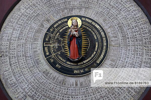 Uhr Kirche Ansicht Astronomie Detail Details Ausschnitt Ausschnitte