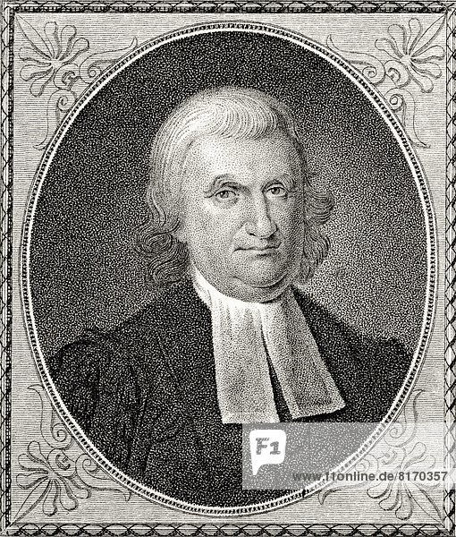 Dr John Witherspoon 1723 To 1794 American Clergyman Statesman And Founding Father A Signatory Of Declaration Of Independence 19Th Century Engraving By J.B. Longacre From A Painting By C.W. Peale