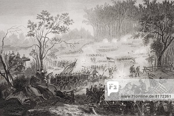 The Battle At Pittsburg Landing Also Known As The Battle Of Shiloh Tennessee 1862