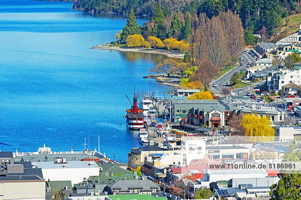 Queenstown und Lake Wakatipu  Südinsel  Neuseeland