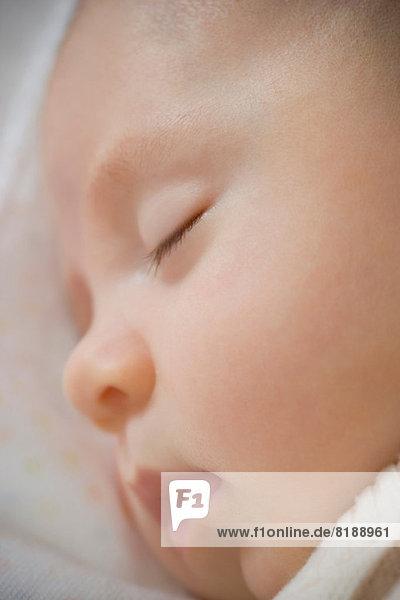 Baby boy sleeping  close up