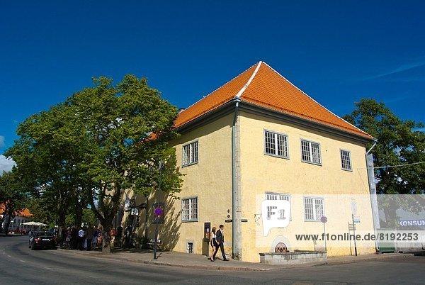 Halle Stadt Insel Estland Nordeuropa