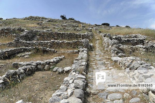 Antike minoische Siedlung Gourniá  archäologische Ausgrabungsstätte