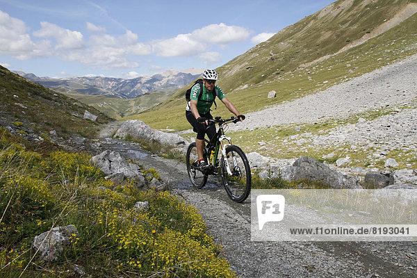Mountainbiker im Val Pila