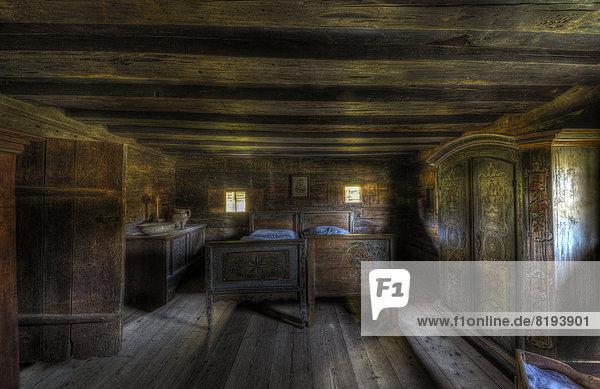 'Old farmhouse bedroom  open-air museum ''Museum Tiroler Bauernhöfe'''