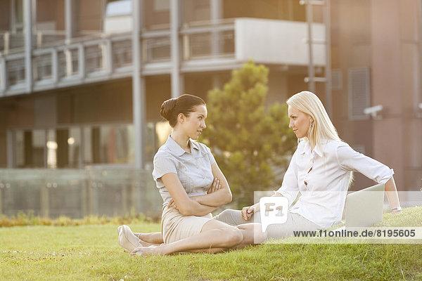 Geschäftsfrau  sehen  Rasen  Büro  jung  Hoffnung