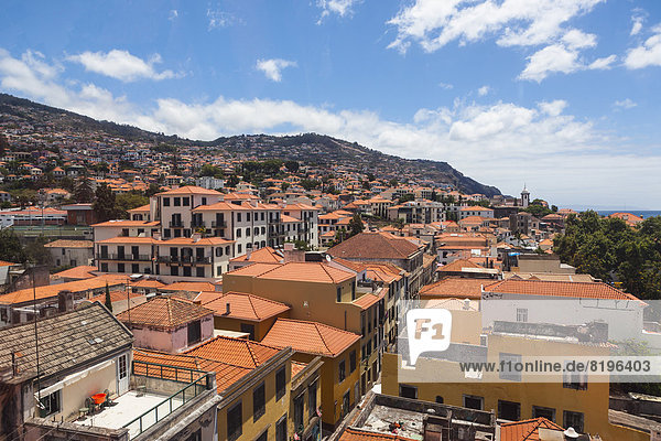 Portugal  Funchal  Ansicht der Häuser auf Madeira