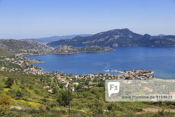 Türkei  Blick auf das Dorf Selimye