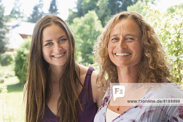 Portrait of women  smiling