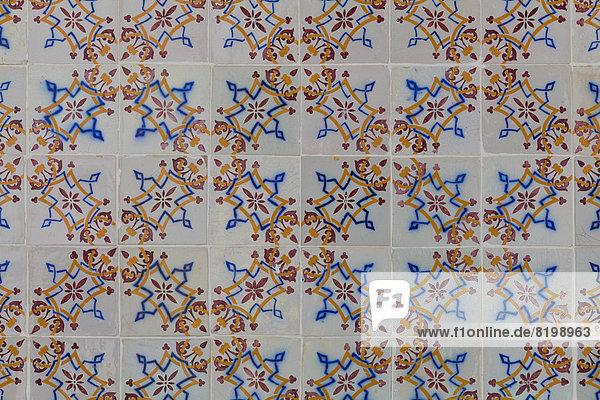 Portugal  Keramikfliesen  Nahaufnahme Portugal, Keramikfliesen, Nahaufnahme