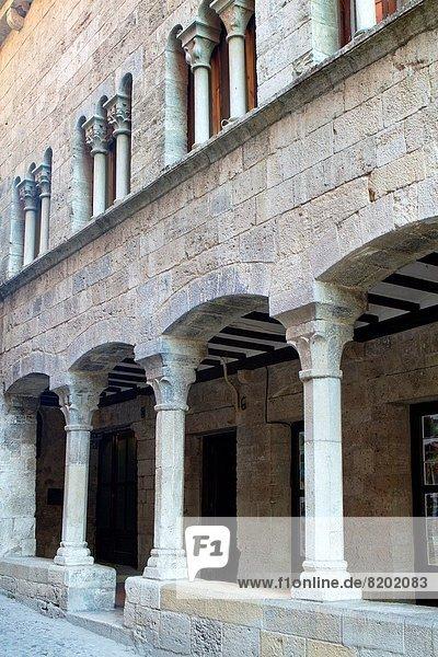 Mittelalter Geschichte Dorf Kunst Katalonien Spanien