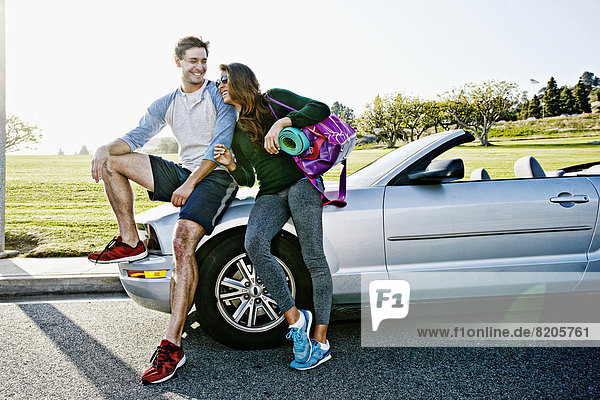 Fitnesstraining  Cabrio  Kleidung  Fahrgestell