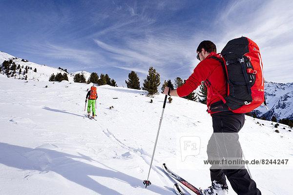 Skitourengeher bei der Peder-Stieralm Skitourengeher bei der Peder-Stieralm