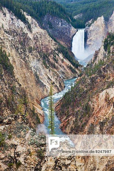 Ehrfurcht  Wasserfall  Schlucht