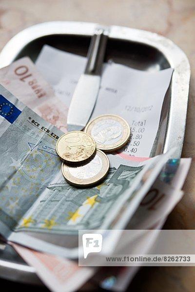 Quittung  Geld  Euro