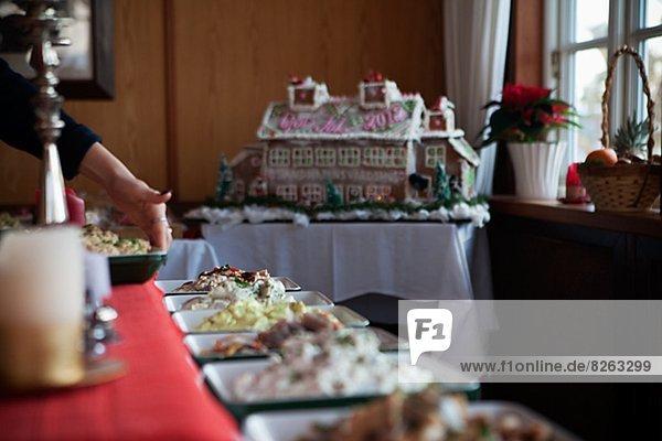 Lebensmittel Weihnachten Tisch