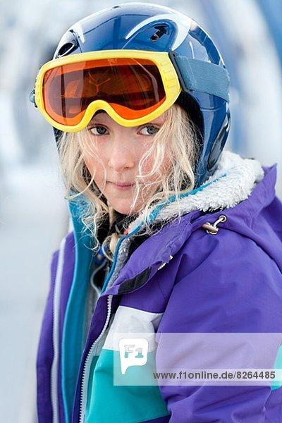 Portrait  Skianzug  Mädchen Portrait ,Skianzug ,Mädchen