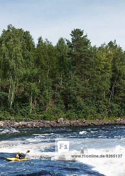 Mensch  Menschen  Fluss  Rafting
