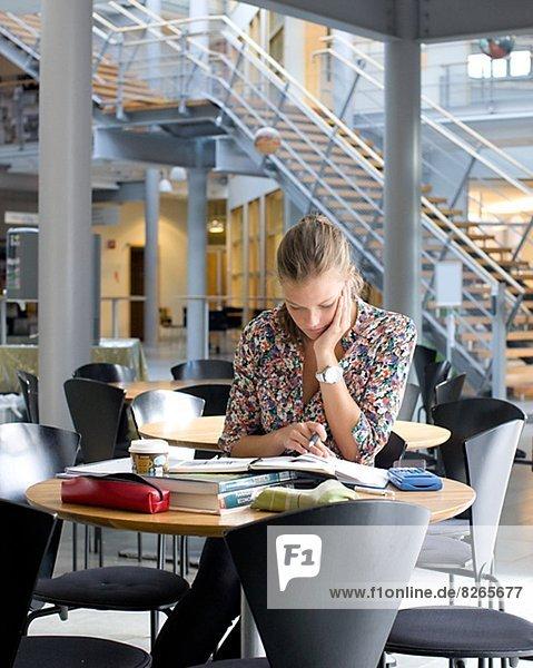 sitzend  Cafe  Student  Universität