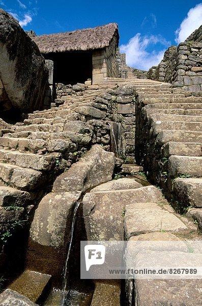 Ruinenstadt Machu Picchu  Sacred Valley of the Incas  Urubamba Valley  Peru