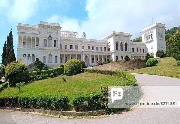 Sommer Ehrfurcht Fassade Hausfassade Palast Schloß Schlösser Osteuropa Krim russisch Ukraine