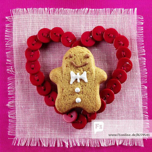 Mann  Tag  Lebkuchen  Valentinstag