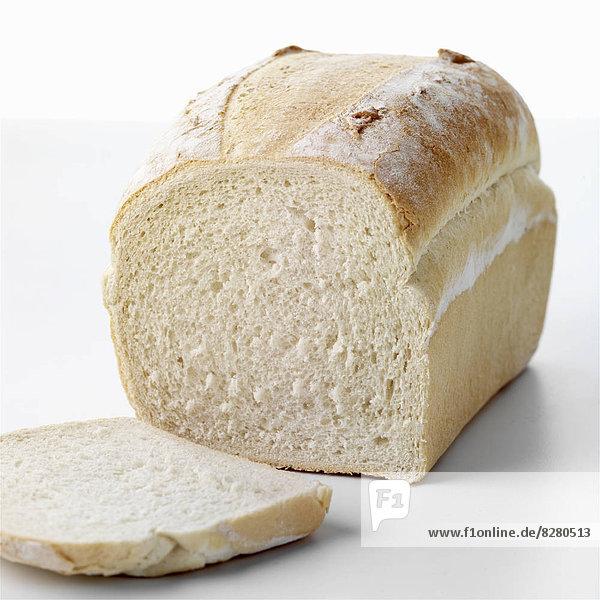 Brot  Brotlaib  Scheibe  weiß