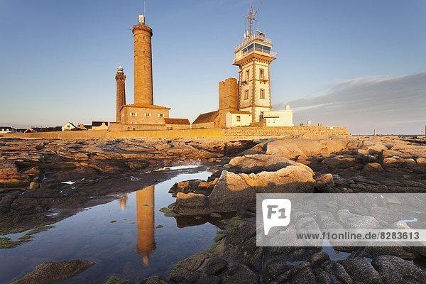 The Lighthouse of Phare d'Eckmuhl  Penmarc'h  Finistere  Brittany  France  Europe
