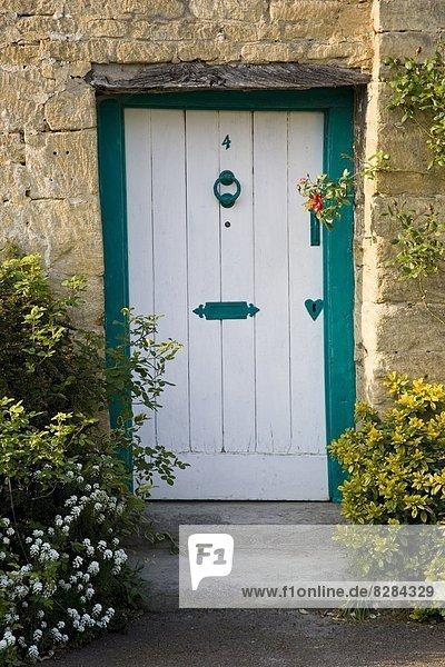 Tradition Eingang Großbritannien Tür frontal Gloucestershire