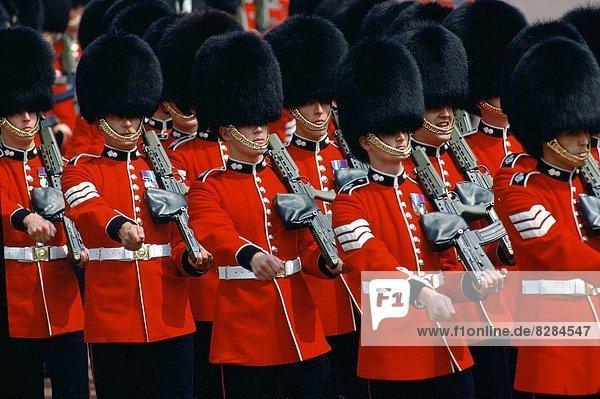 Großbritannien  London  Hauptstadt  Wachmann  marschieren  Militär  Parade